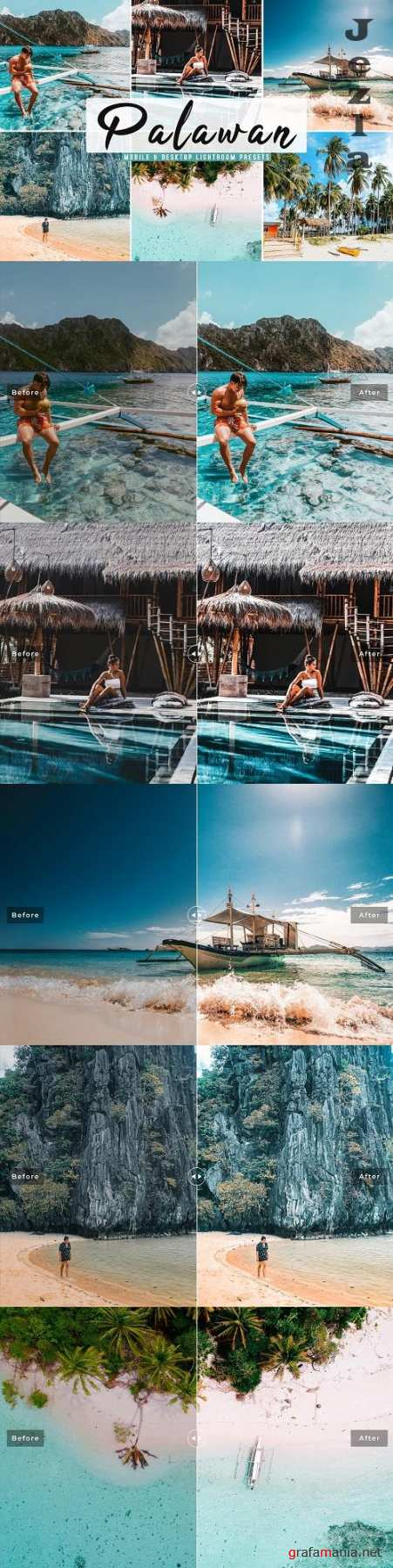 Palawan Lightroom Presets Pack - 4780843 - Mobile & Desktop