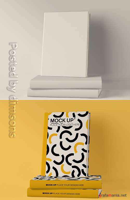 3 Book Cover Mockup 337042518