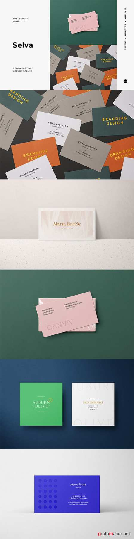 5 Business Card Mockup Scenes