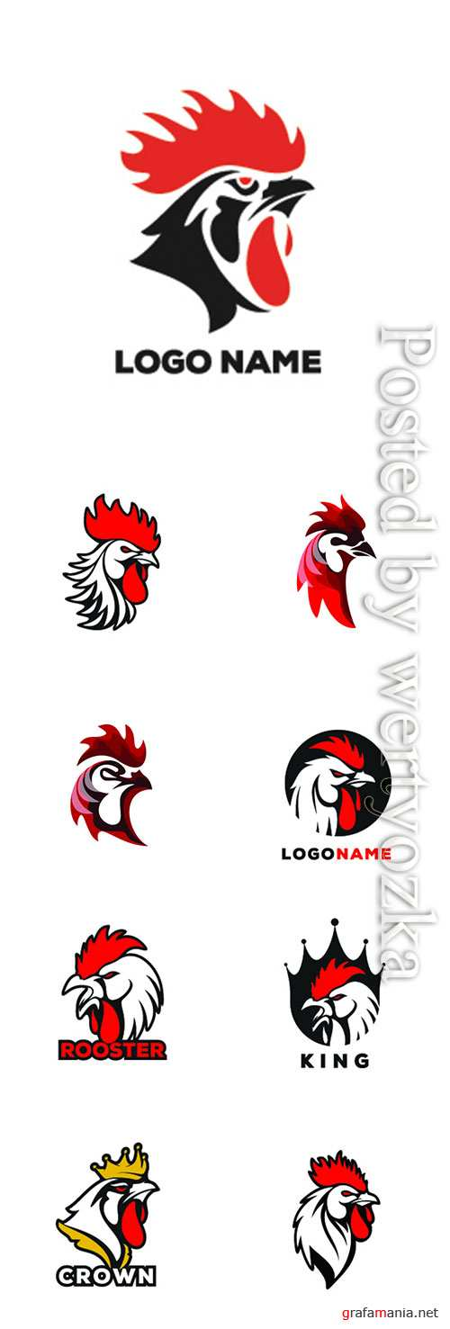 Rooster vector logo illustration