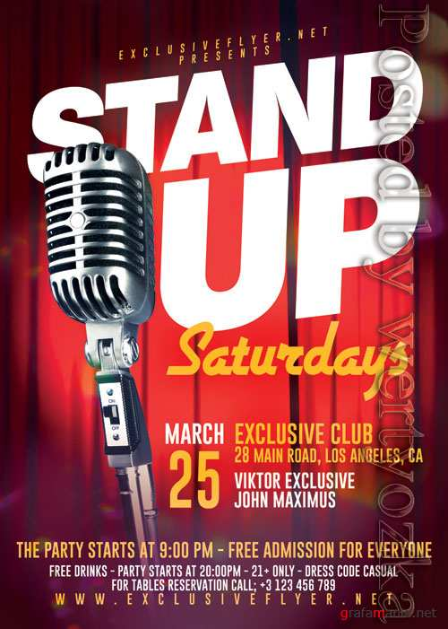 Stand up saturdays - Premium flyer psd template