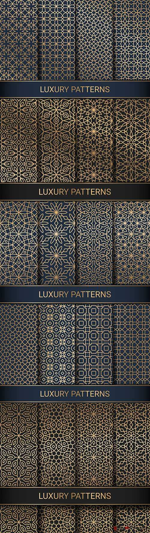 Luxury seamless decorative patterns for creativity