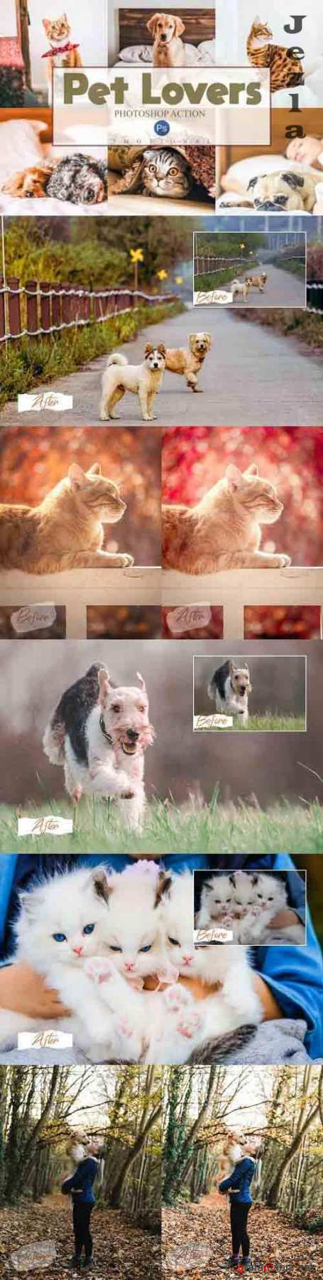 14 Pet Lovers Photoshop Actions ACR Luts