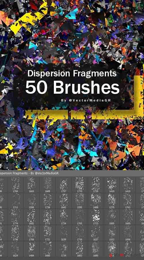 Dispersion Fragments - Photoshop Brushes 26556138