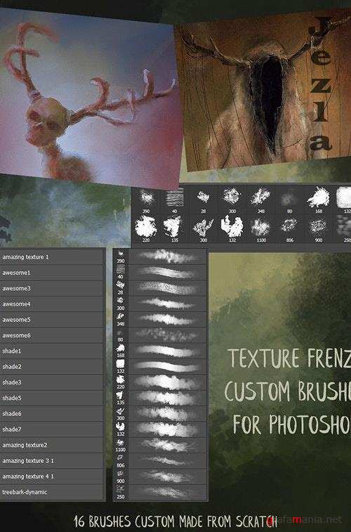 Texture Frenzy Photoshop Brushes 26321843