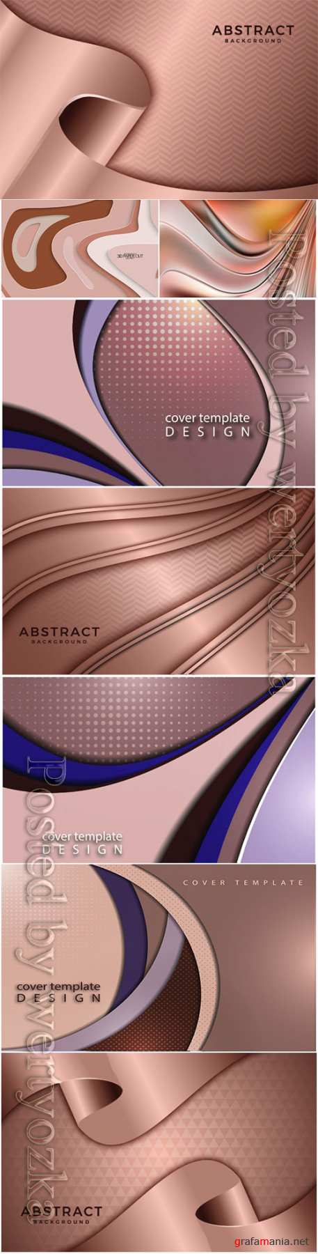 Metallic design for background and vector abstract poster