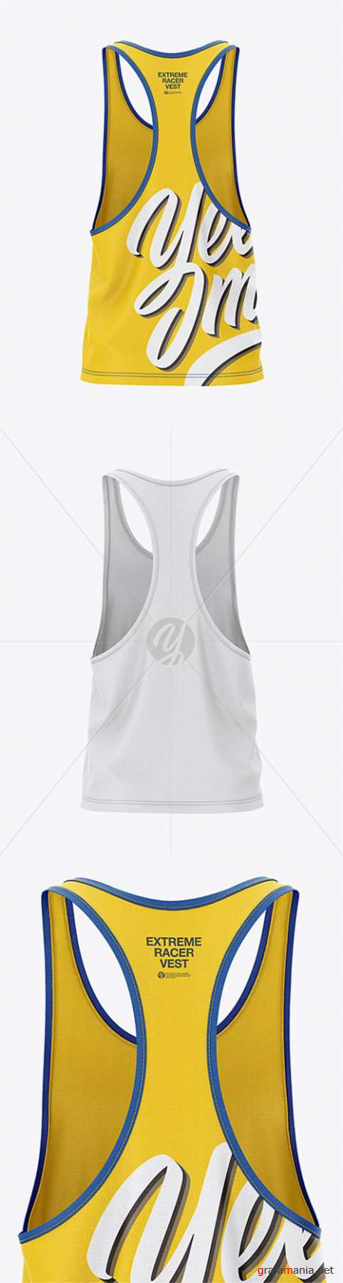 Men's Racer-Back Tank Top Mockup - Back View 31475