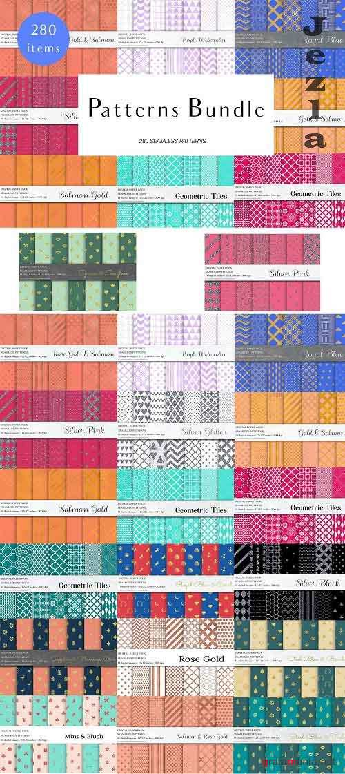 Seamless Patterns Bundle - 4955428