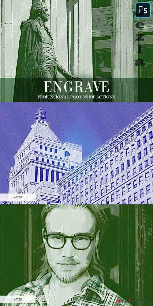 Engrave Photoshop Action - 4870117