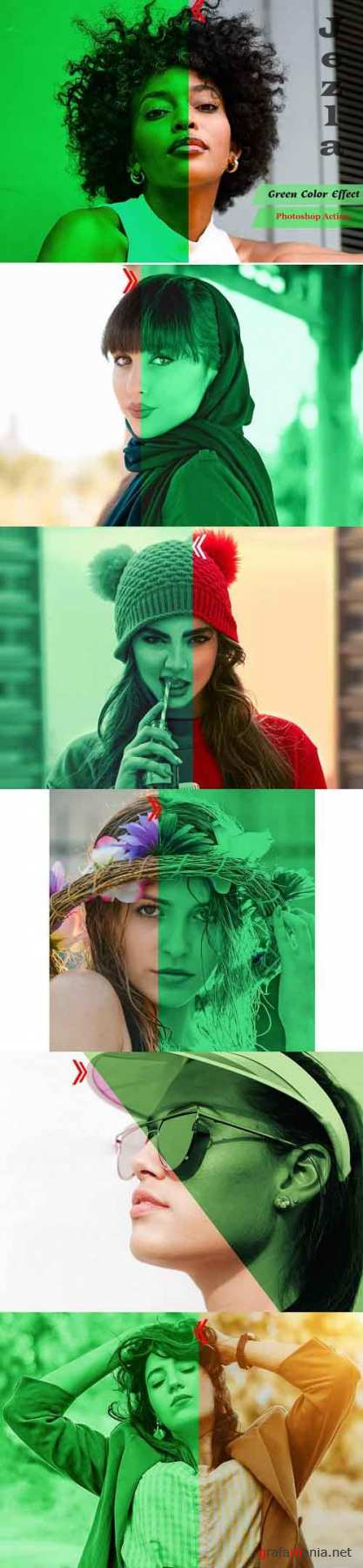 Green Color Effect Photoshop Action - 4939667