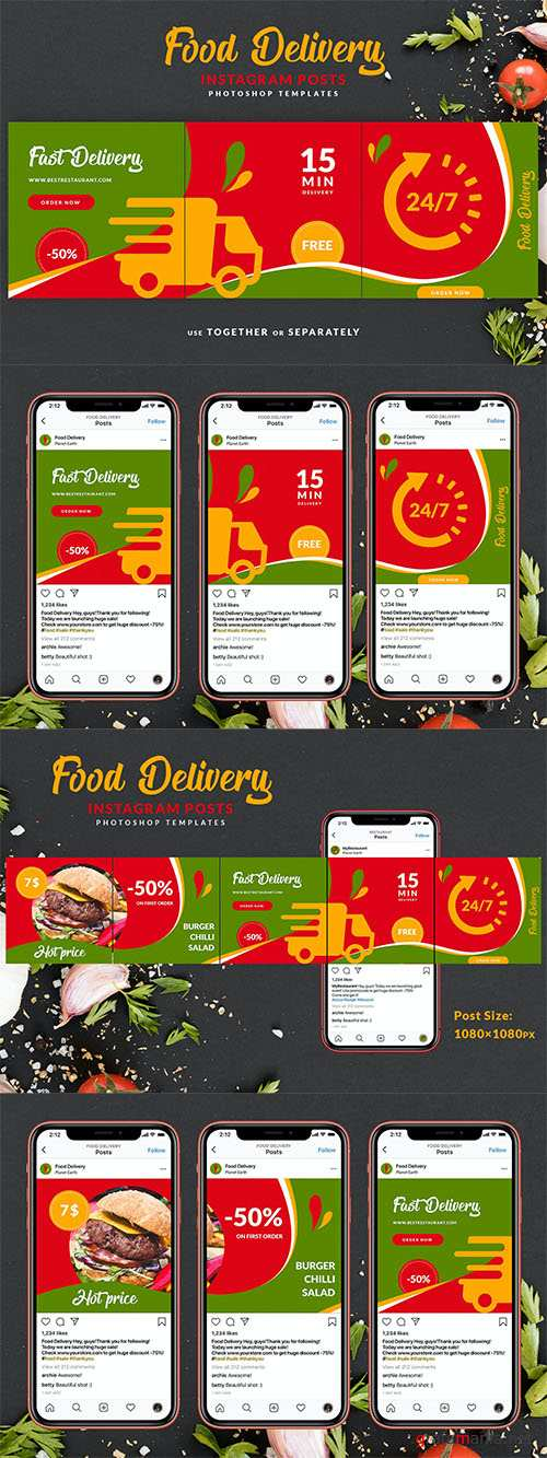 Food Delivery Instagram Carousel
