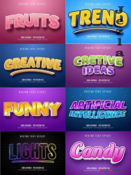 Editable font effect text collection illustration design 108
