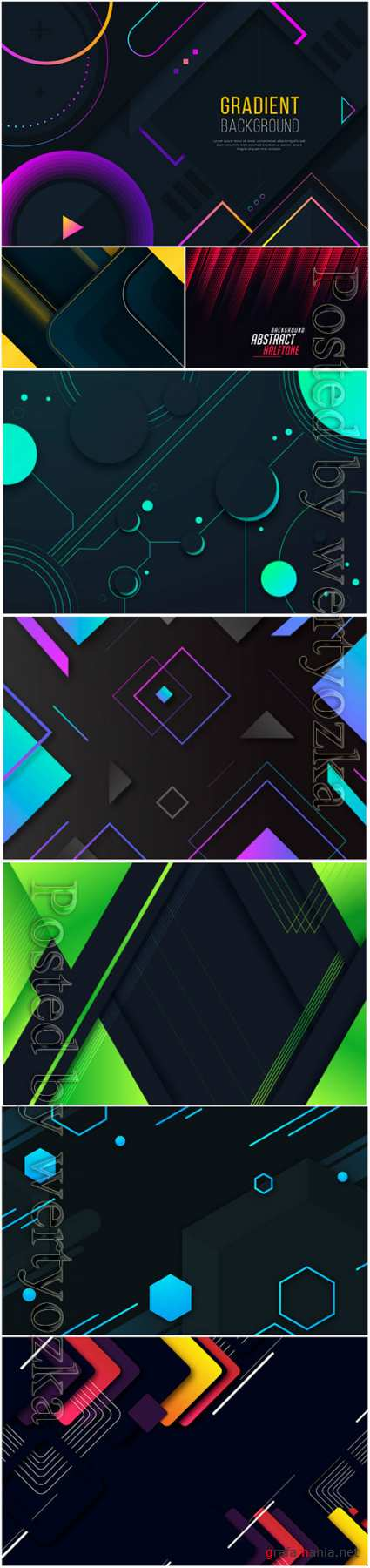 Luxury abstract backgrounds in vector # 6