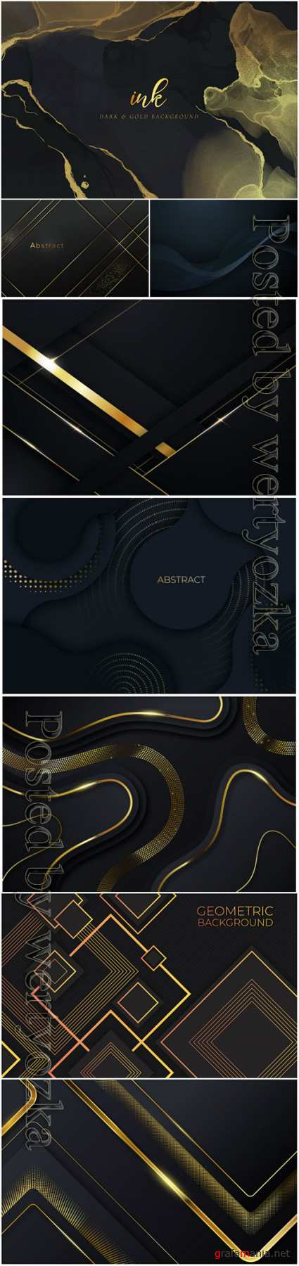 Luxury abstract backgrounds in vector # 5