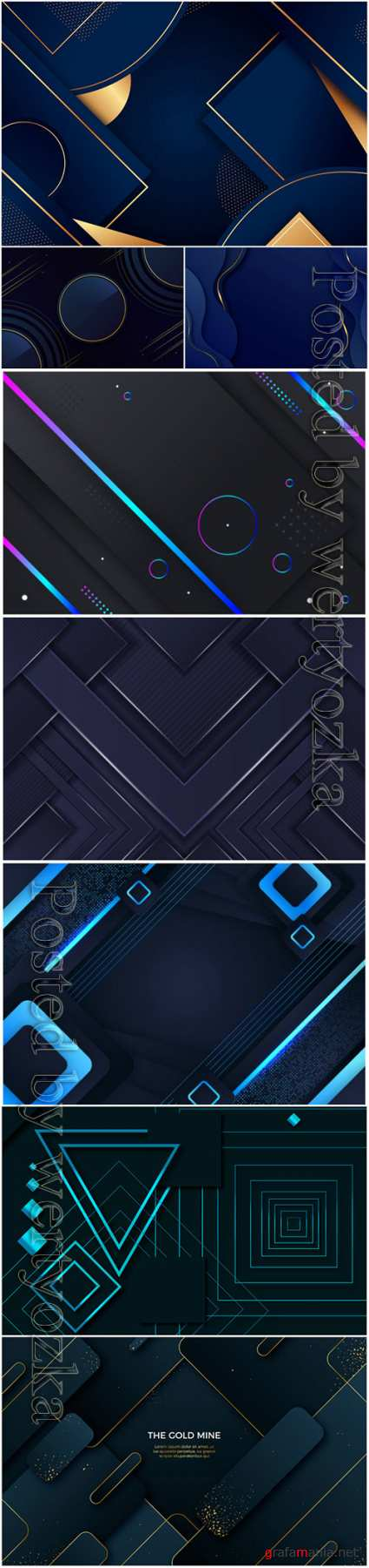 Luxury abstract backgrounds in vector # 4