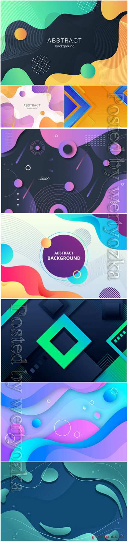 Luxury abstract backgrounds in vector # 3