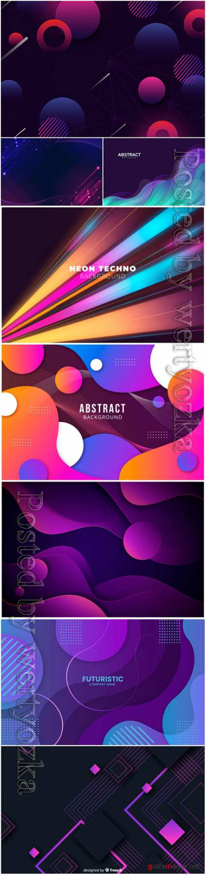 Luxury abstract backgrounds in vector # 2