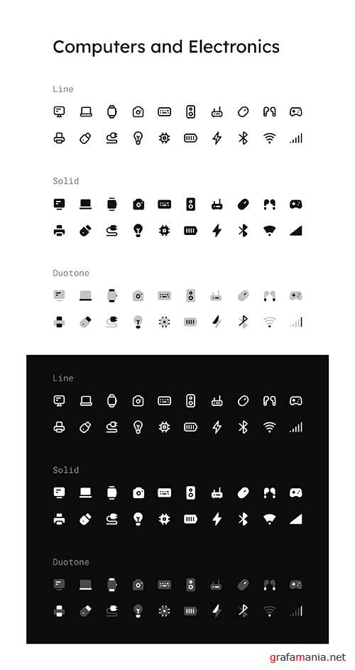 Computers and Electronics Icon Set