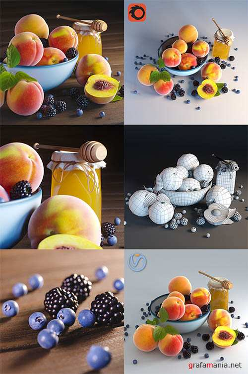 Peaches 3d Models (Vray, Corona)