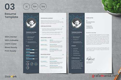 Professional CV Resume Template 03 - Slidewerk