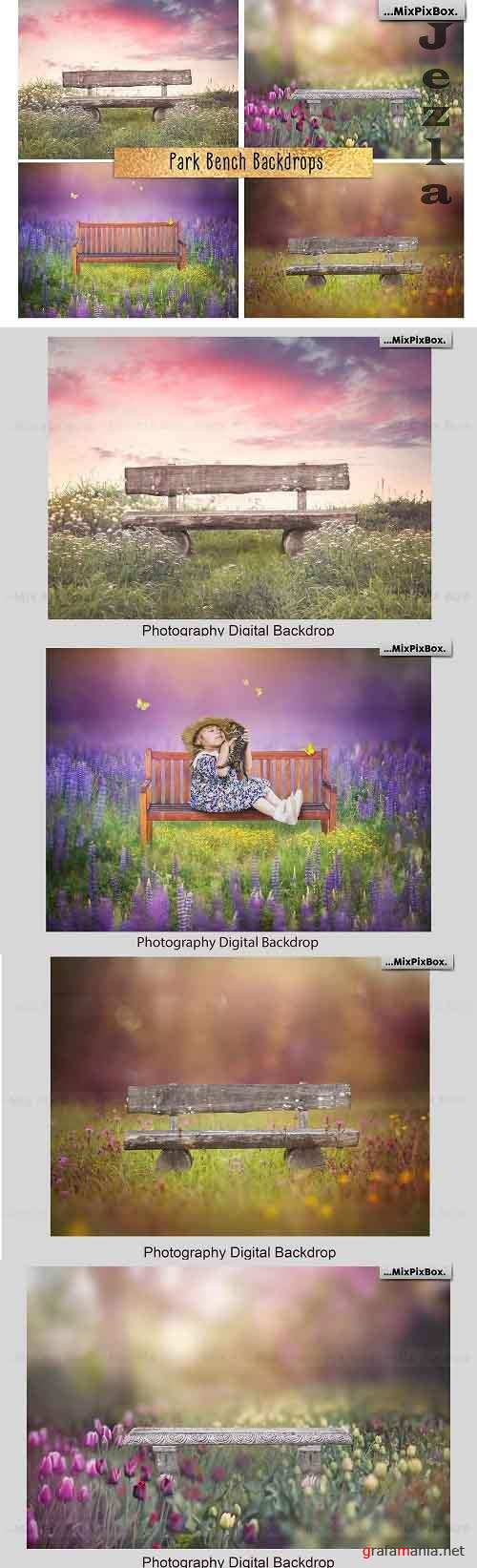 Park Bench Backdrops - 5013302