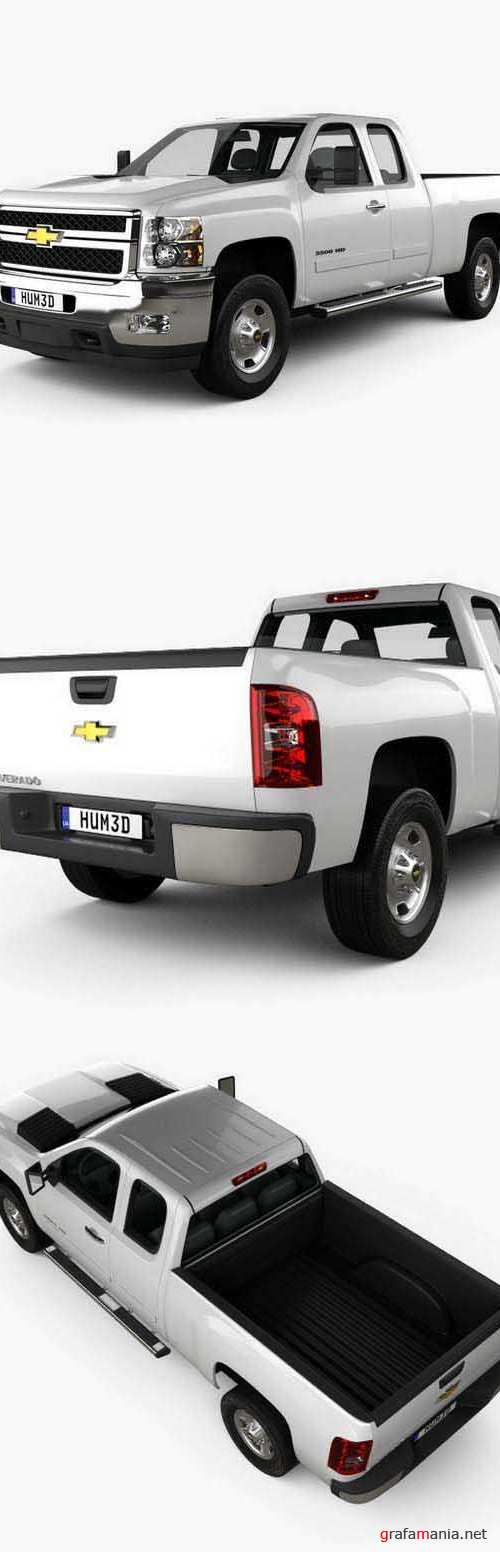 Chevrolet Silverado HD Extended Cab Standard Bed 2011 3D model