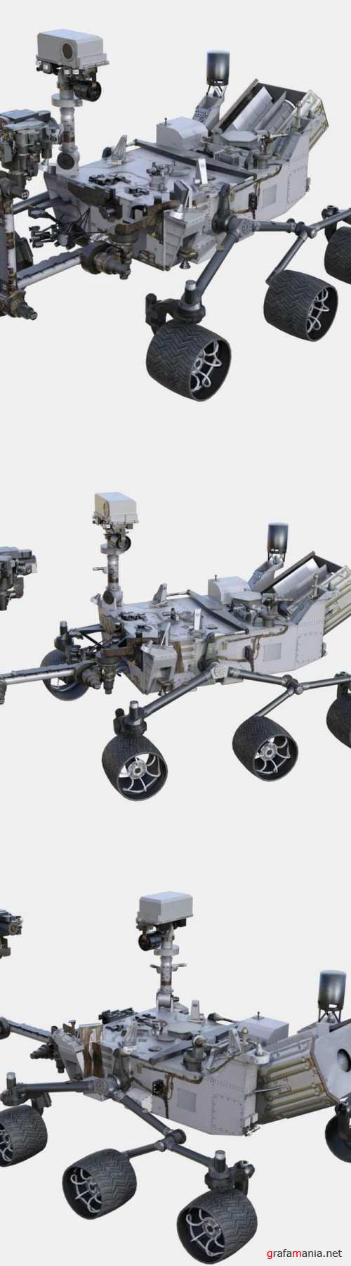 NASA Curiosity Rover 3D Model