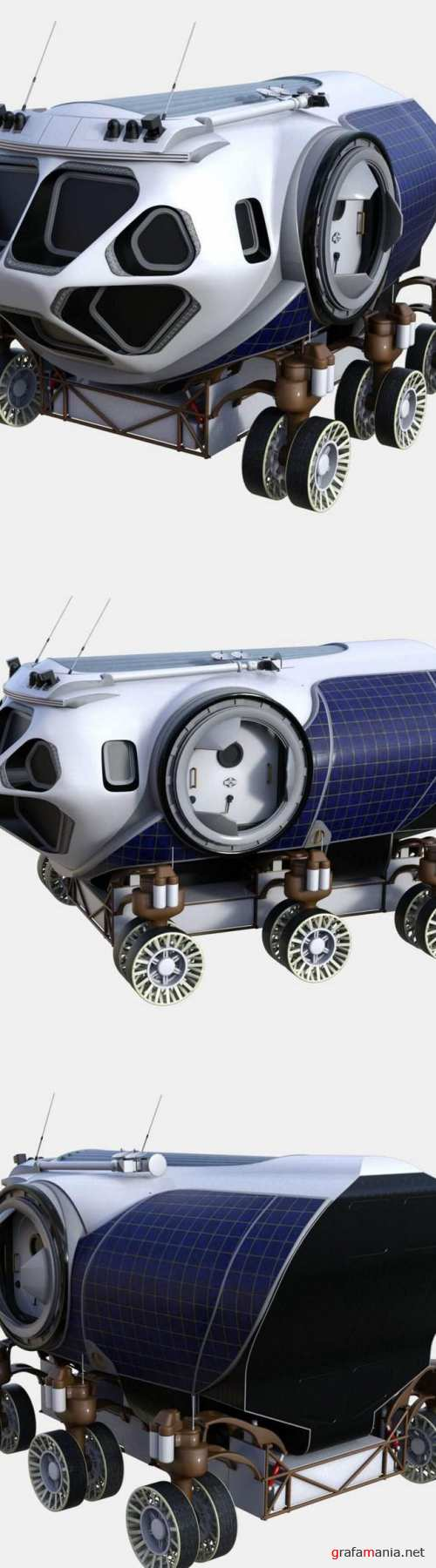 NASA Space Exploration Vehicle Concept 3D Model