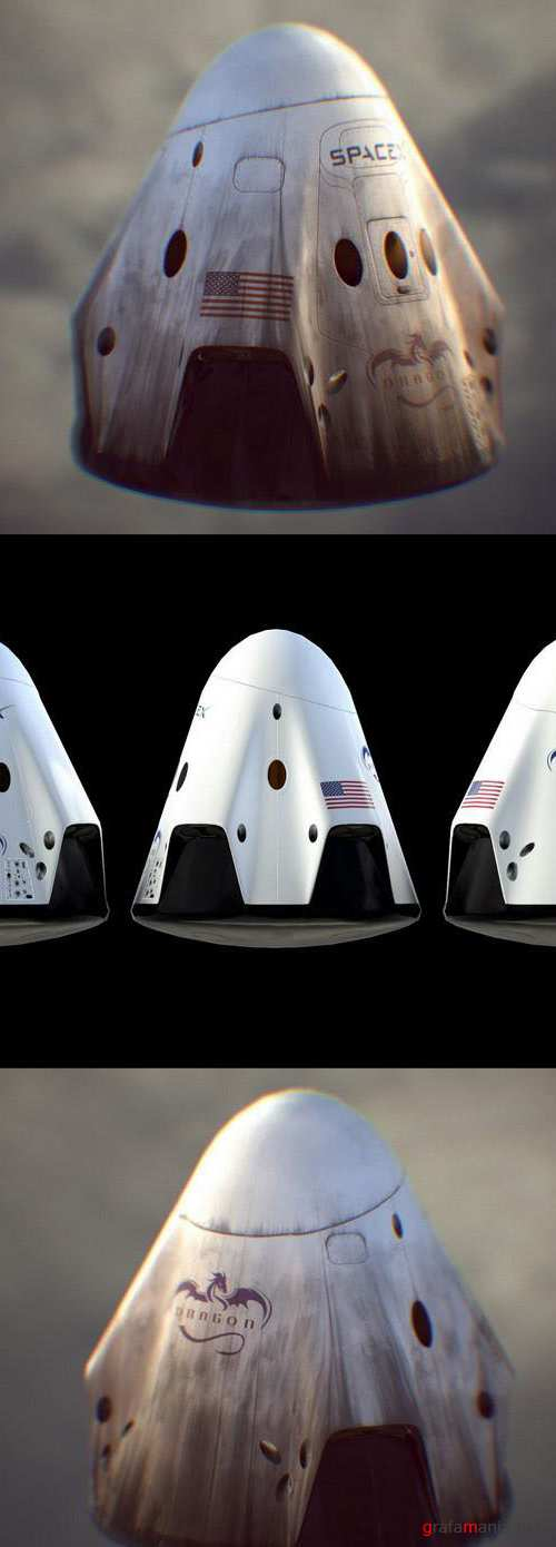 SpaceX Dragon 2 Ship – 3D Model