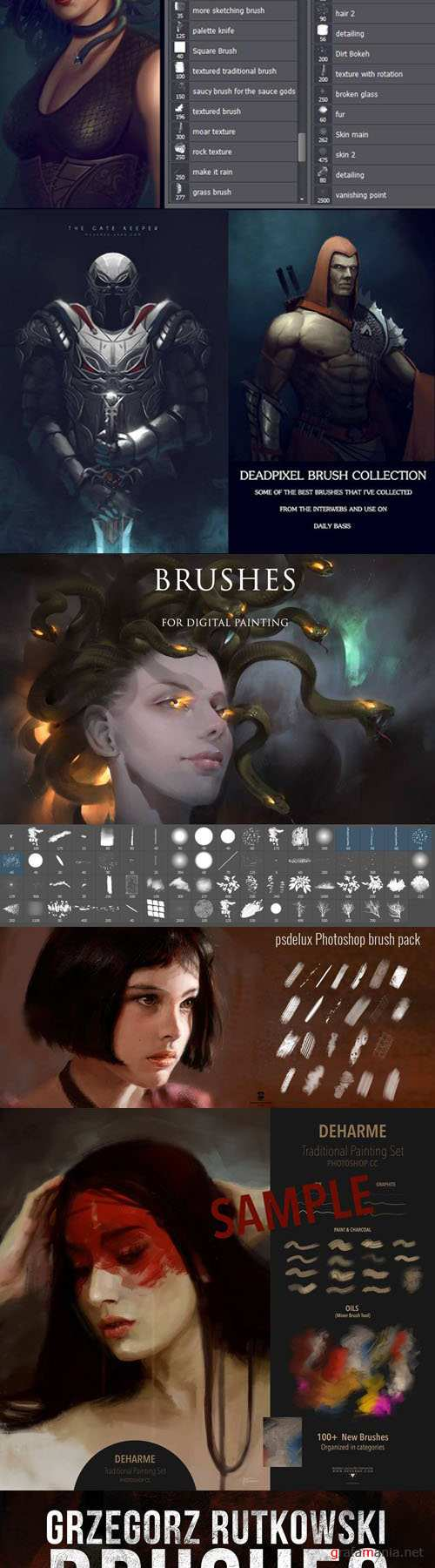 Amazing Sets of Painting Brushes for Photoshop