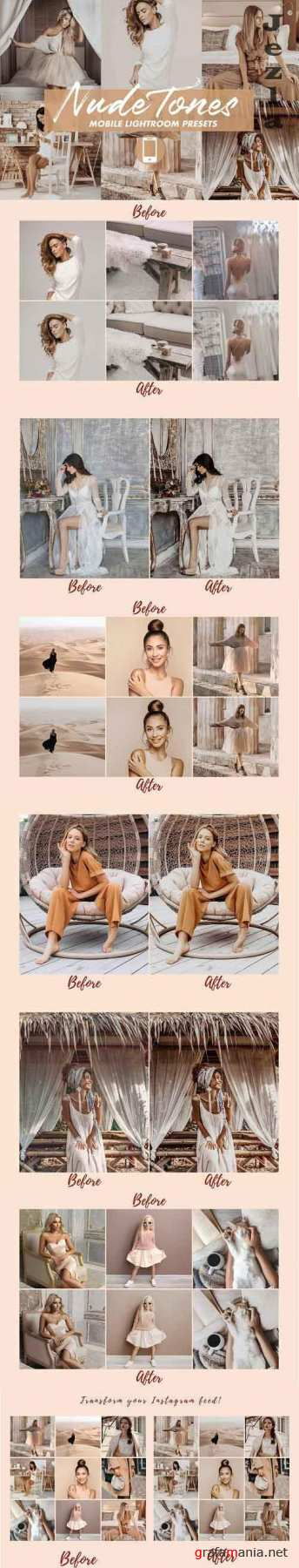 Mobile Lightroom Presets NUDE TONES 4841702