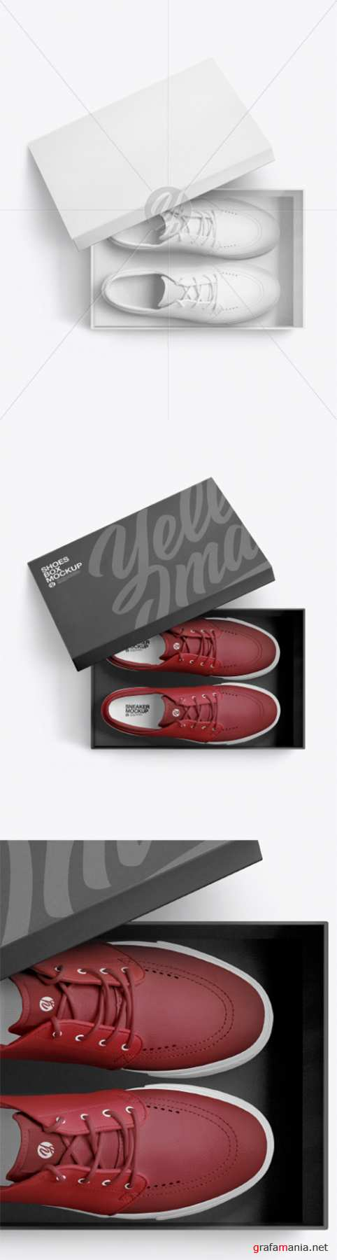 Sneakers Shoes w/ Box Mockup 60996