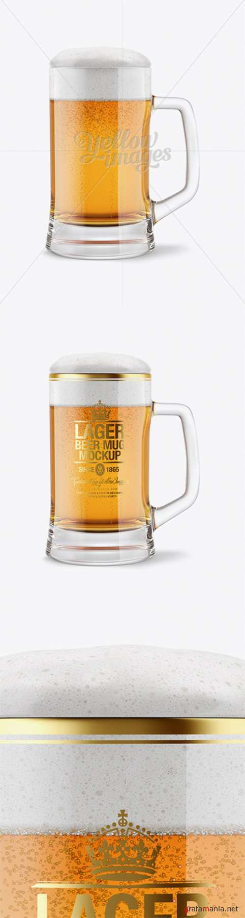 Tankard Glass Mug with Lager Beer Mockup 14664