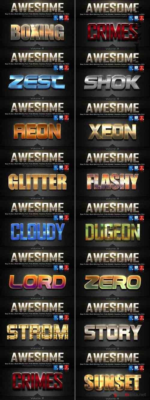 Awesome Photoshop Text Effects Bundle Vol.2