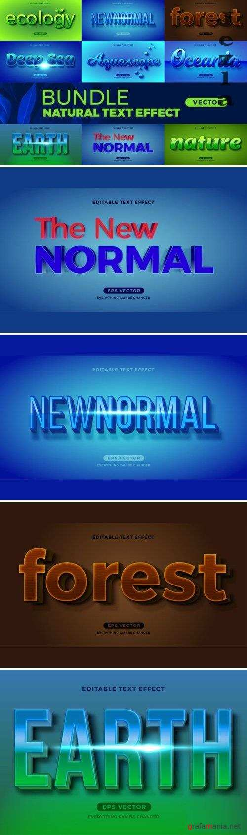 Bundle Natural Editable Font Effect Text