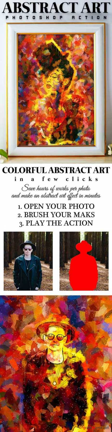 Abstract Art Photoshop Action 26121789