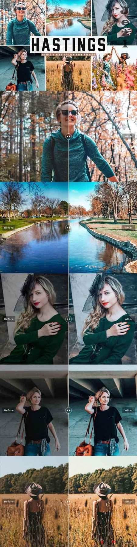Hastings Lightroom Presets Pack - 5038530 - Mobile & Desktop