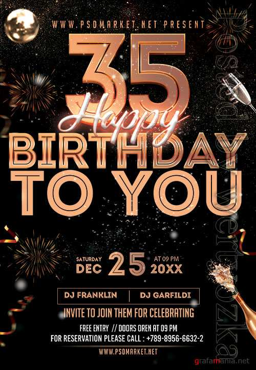Birthday to you - Premium flyer psd template