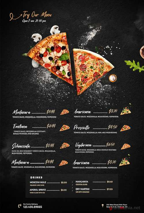 Restaurant Food Menu - Premium flyer psd template
