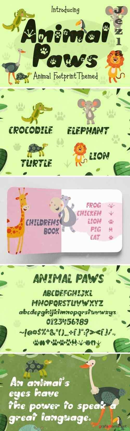 Animal Paws Font