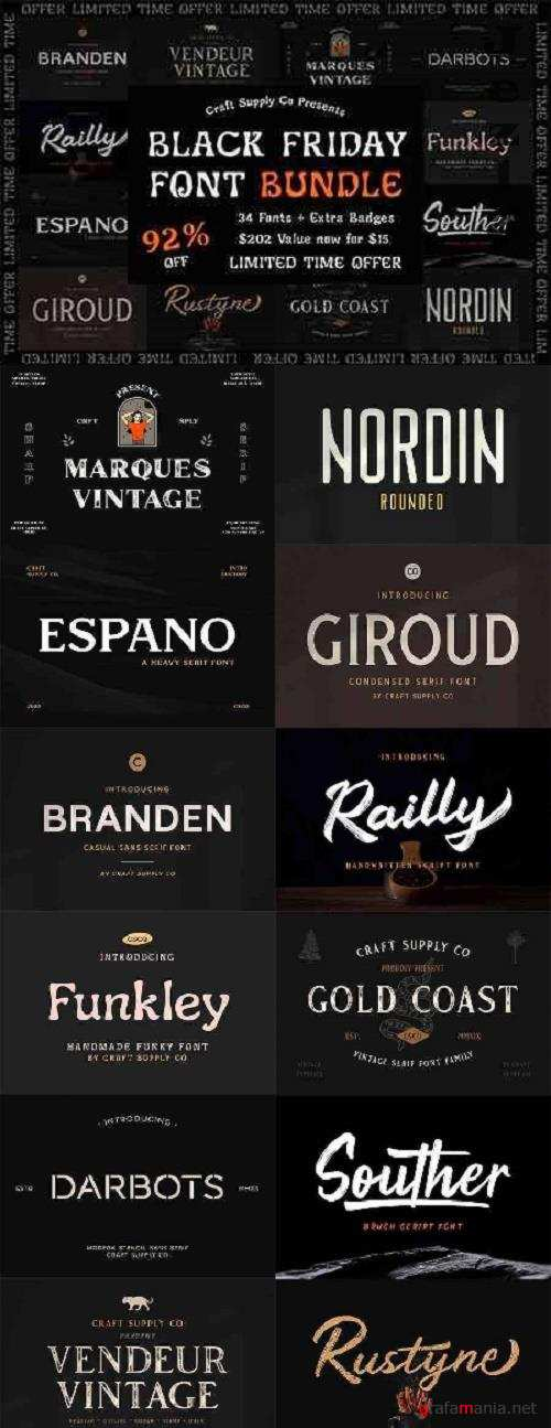 CreativeMarket - BLACK FRIDAY Font Bundle 5581588 (full collection)