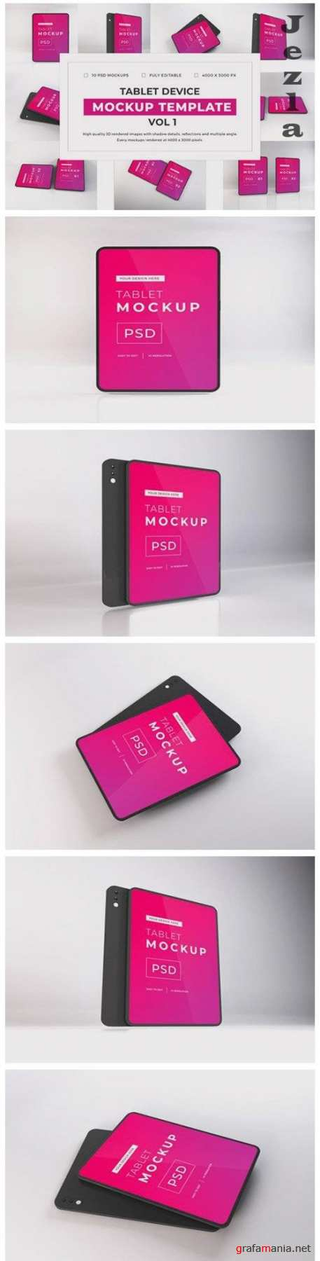 Apple iPad Tablet Device Mockup Template Bundle Vol 1 - 1052918