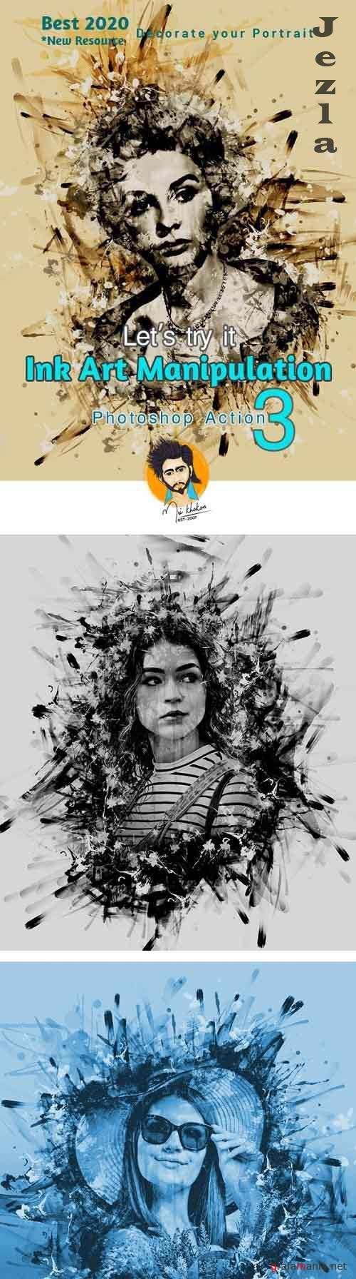 GraphicRiver - Ink Art Manipulation Photoshop Action 29099369