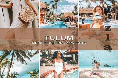 CreativeMarket - 5 Tulum Lightroom Presets 5701236