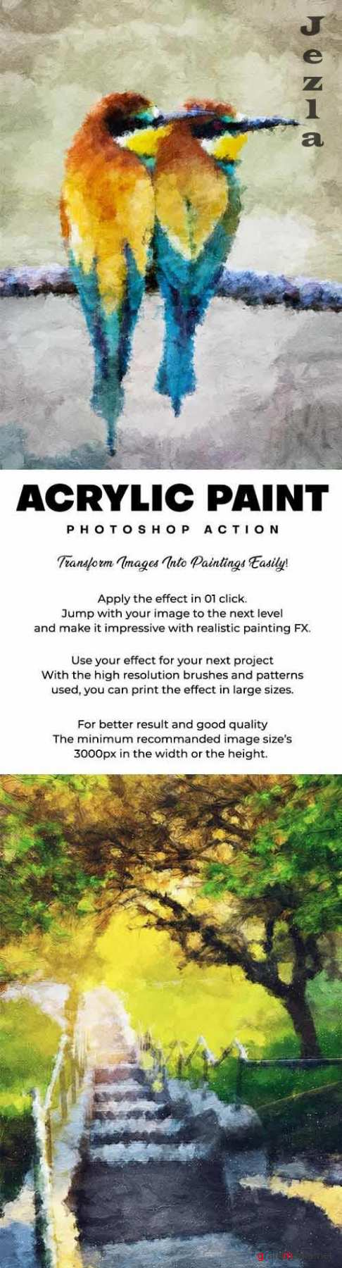 GraphicRiver - Acrylic Paint Photoshop Action - 29558035