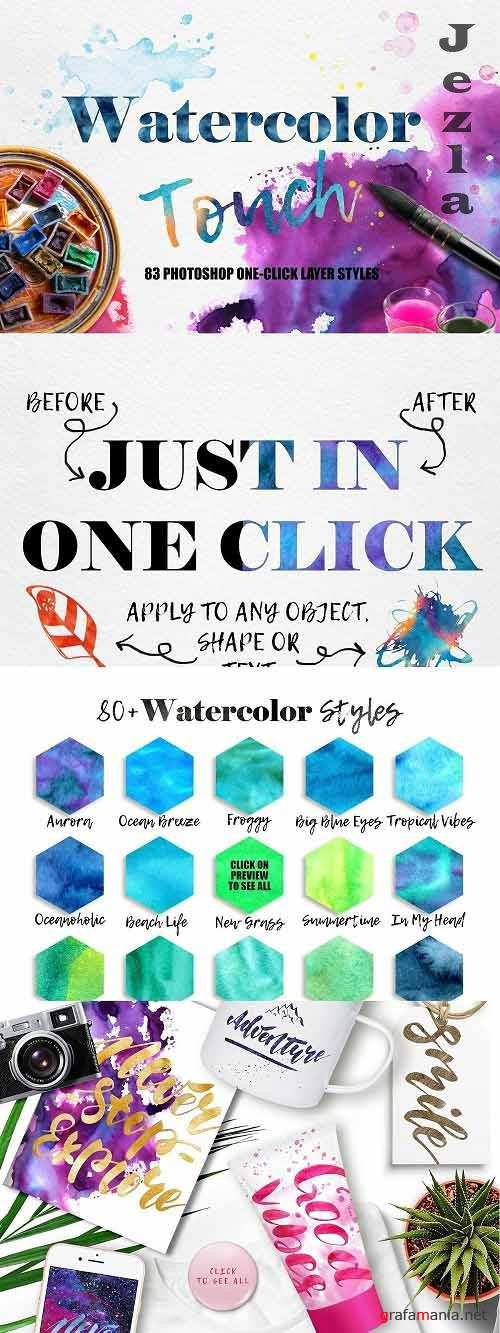 CreativeMarket - Watercolor Photoshop Layer Styles 5570845