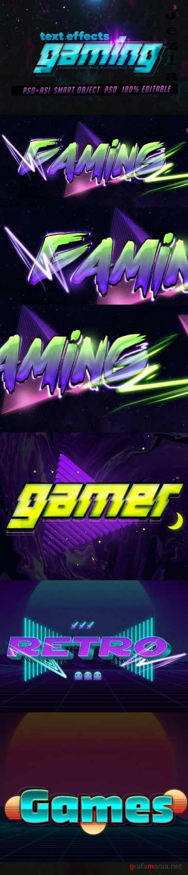 GraphicRiver - Gaming Text Effects - Psd & Layer Styles 29727123
