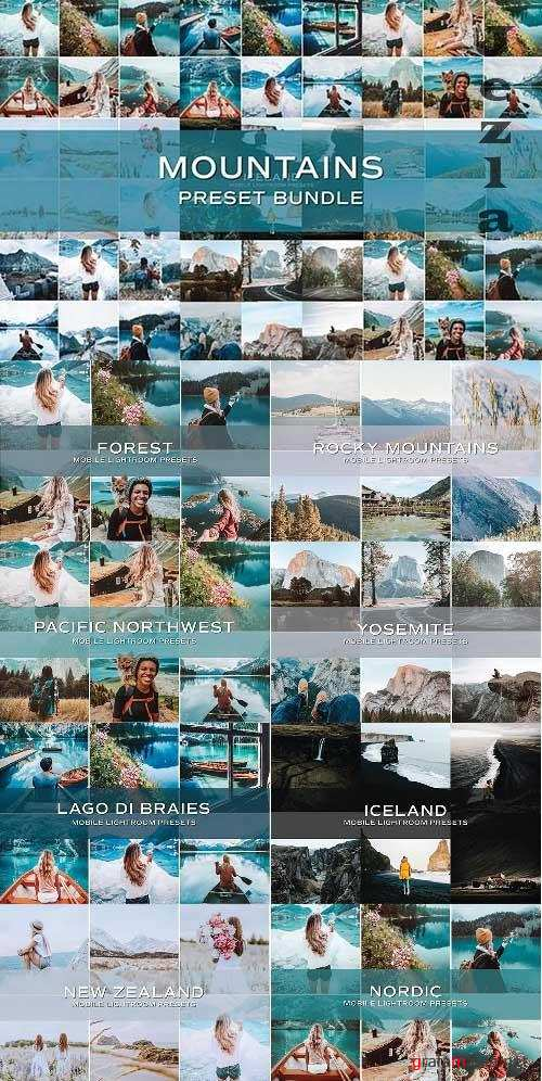 CreativeMarket - 45 Mountain Lightroom Preset Bundle 5701832