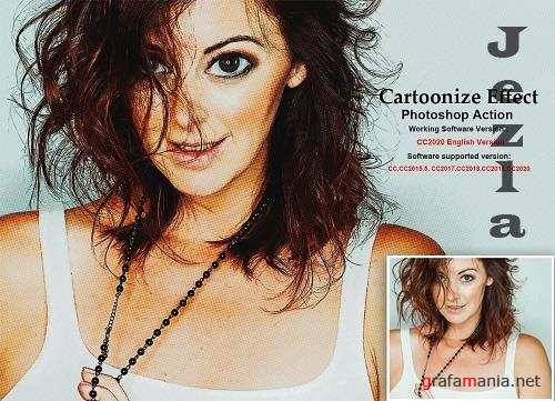 CreativeMarket - Cartoonize Effect Photoshop Action 5454375