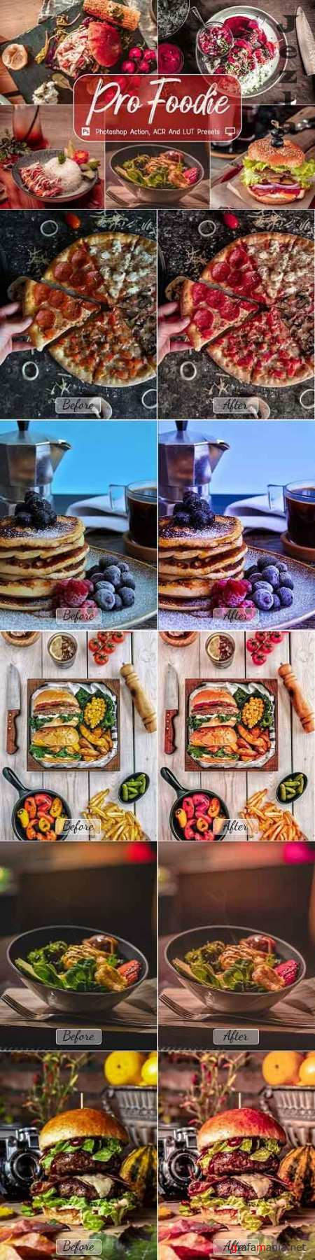 8 Pro Foodie Photoshop Actions, ACR, LUT Presets - 1135974